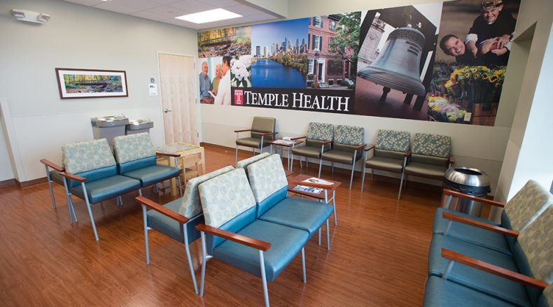 The waiting room at ReadyCare Cottman Avenue