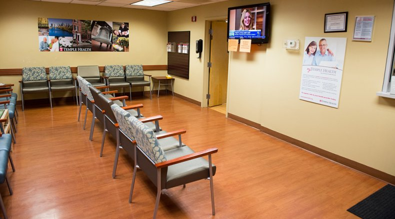 The waiting room at ReadyCare Port Richmond