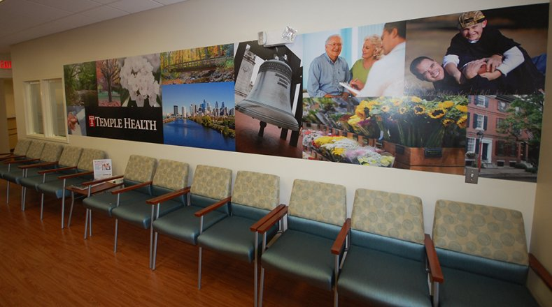 The waiting room at ReadyCare Roosevelt Boulevard